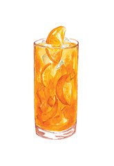Orange Juice (Sharon Farrow) Tags: drink foodanddrink foodillustration drinksillustration illustration illustrator illustrateddrinks orange orangejuice juice ice cool summer summertime cold refreshing fresh healthy healthyliving fruit fruitjuice pen pencil paint drawing colour color drawingfood health sharonfarrow