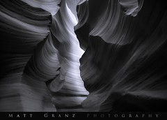Walls in Black and White (Matt Grans Photography) Tags: antelopecanyon arizona page desert slotcanyon sandstone