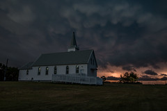 Night Service (gerrypocha) Tags: storm lightning mammatus church prairie clouds night