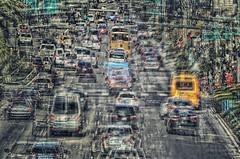 Traffic in Vegas is a Nightmare! (Paul B0udreau) Tags: canada ontario niagara paulboudreauphotography nikon nikond5100 photoshop nevada lasvegas street people lights tourist nikkor70300mm