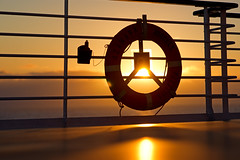 My First Midnight Sun (hogsvilleBrit) Tags: norway sun midnightsun lifebelt ship contrast cmwdorange