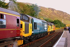 The Hills are alive with the sound of English Electric (Chris Baines) Tags: helmsdale scotland srps far north explorer class 37421 37025