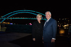 Secretary Tillerson and Australian Foreign Minister Bishop Pose for a Photo as They Conclude AUSMIN 2017 in Sydney