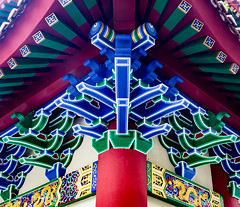 Corner Detail Of The Po Lin Monestery, Lan Tau Island, Hong Kong (Peter Greenway) Tags: buddah hongkong tiantan architecture ngongping buddhistmonestery lantauisland taintan temple buddhist polin bigbuddah polinmonestery monestery
