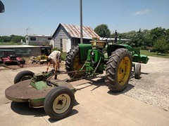 2017-06-10 13.23.16 (neals49) Tags: john deere davis 127 mower gyramor rotary cutter 3010 tractor pull type