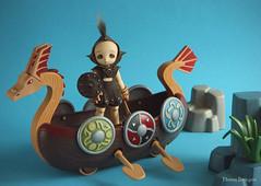Lake Patrol (Ebony Dragon) Tags: doll bjd fairyland pukipuki puki piki bacteria viking boat ship