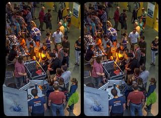 Open science night @ Dresden university 3-D / Stereoscopy / CrossEye / HDR / Raw