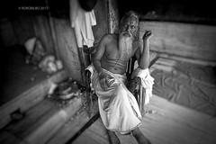 Monkey Palace Jaipur 3 (rokobilbo) Tags: india jaipur monkeypalace people temple customs portrait color man blackandwhite