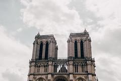La cathédrale (w a n d e r e r ▲) Tags: paris parigi vsco 50f14 nikond610 d610 church notredame travel sky clouds minimalism minimal voyage highs