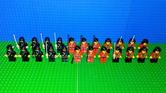 Ninja Robber Faction (Mana Montana) Tags: lego ninja samurai robber brigand castle army chief katana