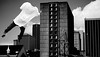 Let go and let Odd (jpgmike) Tags: oddity float surreal surrealism bnw bw blacknwhite blackandwhitephotography self grayscale drama noir noirshot contrast clouds city urban urbanlife dream fantasy collage collageart
