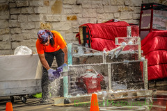 Ice Sculpting Competition (derailed photography) Tags: saw is law ice sculpting motorcycle harleydavidson waco chainsaw texas art