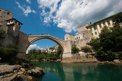 Old Bridge (Stari Most), Mostar, Bosnia (jeetdhillon) Tags: nevretva most stari mostar bosnia war ravage past history old city medieval architecture islam muslim christian stone river green water beautiful picturesque