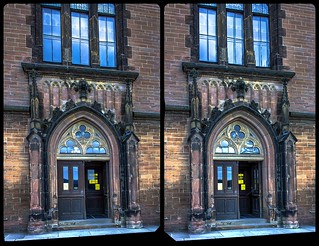 Entrance to Wernigerode castle 3-D / Stereoscopy / CrossView / HDR / Raw