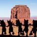 Dancing figures (Picardo2009) Tags: arizona coloradoplateau monumentvalley navajonation usa travel landscape picoftheday silhouettes desert navajo utah dancing