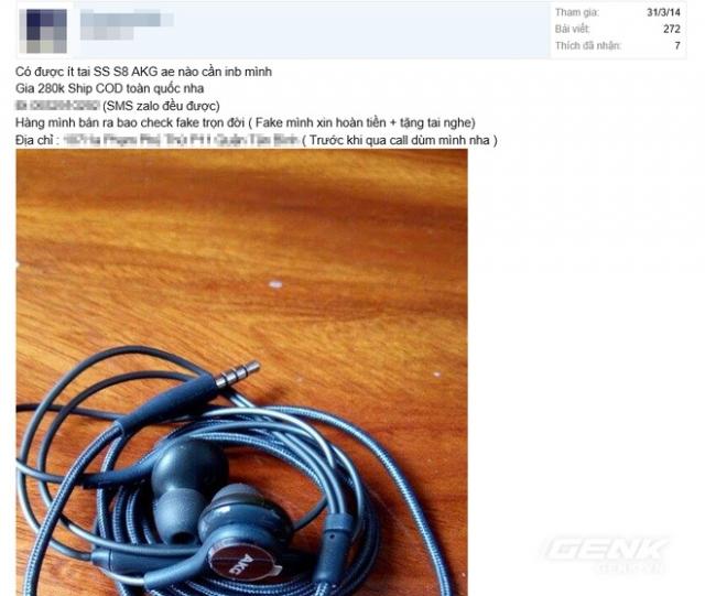 phan biet tai nghe s8 fake