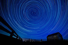 Star trails over barn (Robert Canis) Tags: stars startrails night nightphotography polaris northstar astrophotography star