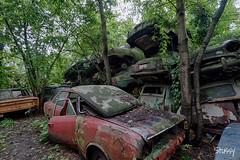 SP-12 (StussyExplores) Tags: austria scrapyard vintage cars teeth rust decay abandoned left behind vehicles explore exploration urebx