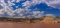 Rocas Coloradas (Mauro Esains) Tags: piedra rocas coloradas ruta 1 chubut patagonia cerros agua laguna formaciones rocosas arcilla greda cielo paisaje aire libre nubes nikon sigma patos aves