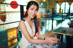 Mơ hoa (Sài gòn-01665 374 974) Tags: sigma snor sony photography photographer new digital flickr featured light art life colours colour colorful photoshop blend asia lens sweet camera artist amazing bokeh blur depthoffield dof 35mm portrait beauty woman people pretty girl lady person dream gai chandung cafe friend indoor red cyan vibrant