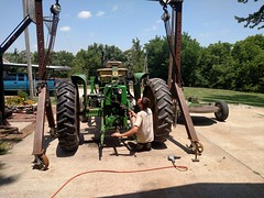 2017-06-10 12.57.02 (neals49) Tags: 3010 tractor john deere 127 pull type gyramor rotary cutter davis mower