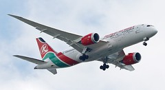5Y-KZA Boeing 787 8 Kenya Airways (Dave Russell (1 million views thanks)) Tags: 5ykza boeing 787 8 7878 dreamliner aircraft aeroplane airplane airliner jetliner jet transport vehicle approach landing london heathrow airport outdoor aero flying aviation pride africa