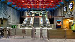 Montréal, Québec, Canada: Préfontaine metro station (Green Line) (nabobswims) Tags: ca canada hdr highdynamicrange lightroom metro montréal nabob nabobswims photomatix préfontaine québec sel20f28 sonya6000 station subway ubahn