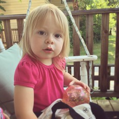 Now With Norah (matthewkaz) Tags: norah daughter child swing frontporch toddler home house summer burcham eastlansing michigan 2017