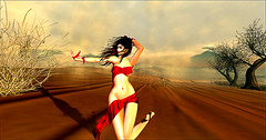 Devin (aromelune) Tags: secondlife expression sl red freedom desert sky paradise art 3d mesh clothing virtualword slstyle photographer