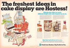 1972 Hostess Industry Magazine Ad Displays (gregg_koenig) Tags: 1972 hostess industry magazine ad displays 1970s pie fruit snack cakes 70s display store twinkies the kid twinkie ibc