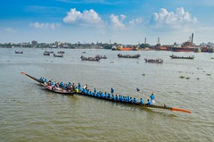 Journey by boat! (ashik mahmud 1847) Tags: bangladesh d5100 nikkor river water sky blue people group