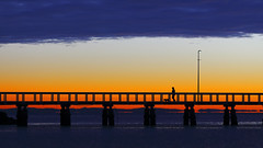 Wellington Point Jetty at Dawn - 朝の散歩 (Fear_Through_The_Eyes) Tags: morning walk wellingtonpoint queensland australia colour sea landscape