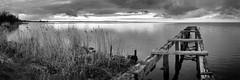 Lough Neagh (Good News Snaps) Tags: bnw bw mono blackandwhite loughneagh jetty lake water clouds pano panorama