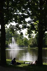Monday in Vondelpark (misseka) Tags: thenetherlands amsterdam park pond fountain vondelpark