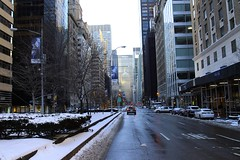 Park Avenue @ 60th Street (Prayitno / Thank you for (12 millions +) view) Tags: konomark metlife met life building park ave avenue sixtieth sixty street str manhattan midtown mid town ny new york city winter scene snow cold outdoor gloomy cloudy day road traffic skyline high rise