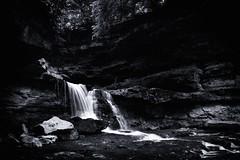 Equivocation (black) (Sine--Qua--Non) Tags: landscape landscapes nature outdoors statepark mccormickscreek indianastateparks indianalandscape indianalandscapes hdr hdrlandscape subtlehdr blackwhite blackandwhite bw monochrome bwhdr blackandwhitehdr indiana waterfall