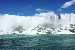 American Falls (NY/Ontario) (lensofjon) Tags: shotoniphone landscape mist blue canada ontario newyork americanfalls waterfalls waterfall niagarafalls niagara