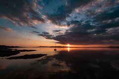 Sunset over the Isles (Mister Oy) Tags: sunset davegreen oyphotos ©oyphotos scotland visitscotland wide fujixpro2 fuji1024mm landscape sky sea water rum eigg skye arisaig lochaber boat yacht reflection wilderness tranquility