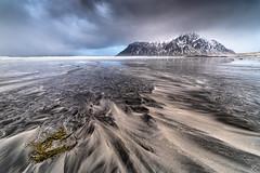 Skagsanden Beach - Lofoten (Nepomuk22) Tags: lofoten norwegen schnee skagsandesbeach strand winter flakstad no