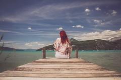 My farewell to the lake (nathaliedunaigre) Tags: adieu farewell lac lake lacdannecy portrait eilahtan ponton yangaëtanolivo