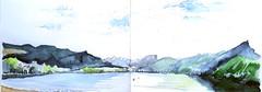 Le Lac du Bourget, Savoie (Croctoo) Tags: croctoo croctoofr croquis savoie bourget lac montagnes aquarelle watercolor
