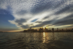 Toronto- City of opportunities (Iskou-Hee) Tags: toronto lakeontario sunset harbourfront clouds