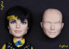 №458. Face Correction for Monster High Jackson (OylOul) Tags: 16 monster high doll custom remold