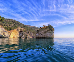 Summer time (Gio_guarda_le_stelle) Tags: seascape italy sea clouds blue sky landscapes ship gargano gioguardalestelle summer alollochecantacomeunangelo scenery gorgeous wow
