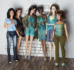 Summer Boho collection (Levitation_inc.) Tags: fashion royalty doll dolls handmade fashions outfits etsy boho barbie nuface poppy parker levitation summer