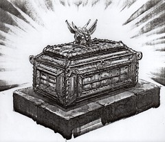 Joe Johnston concept art of the Ark of the Covenant from Raiders of the Lost Ark (1981) (Tom Simpson) Tags: indianajones raidersofthelostark behindthescenes vintage film movie 1981 1980s conceptart illustration art ark arkofthecovenant