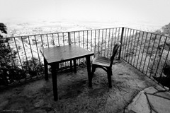 Seat on Top (Luca Enrico Photography) Tags: cavour rocca piemonte piedmont panorama bw tavolo sedia chair table d750 nikon1635f4