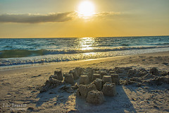 Castles in the Sand - St Pete Beach, Florida (J.L. Ramsaur Photography) Tags: jlrphotography nikond7200 nikon d7200 photography photo 2016 engineerswithcameras photographyforgod thesouth southernphotography screamofthephotographer ibeauty jlramsaurphotography photograph pic tennesseephotographer florida pinellascountyfl emeraldcoast beach ocean gulfofmexico sand waves alwaysinseason sunshinecity stpete stpetebeach stpetebeachfl castlesinthesand sandcastles sunset sun sunrays sunlight sunglow orange yellow wherethemapturnsblue ilovethebeach bluewater blueoceanwater sea nature outdoors macro macrophotography closeupphotography closeup dof depthoffield bokeh god'sartwork nature'spaintbrush perspective perspectiverules vanishingpoint