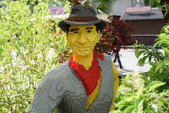 20170610 DSC_1714 LEGO® Star Wars™ Days i LEGOLAND Billund Harrison Ford, Indiana Jones. (quart71) Tags: brick danmark indianajones lego lego®starwars™days legoland denmark harrisonford outdoor people portrait