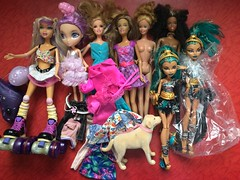 Flea Market Find : 06/04/2017 (MyMonsterHighWorld) Tags: monster high nefera de nile tanner barbie delancy rayla christie la dee da tylie my scene kennedy flea market find